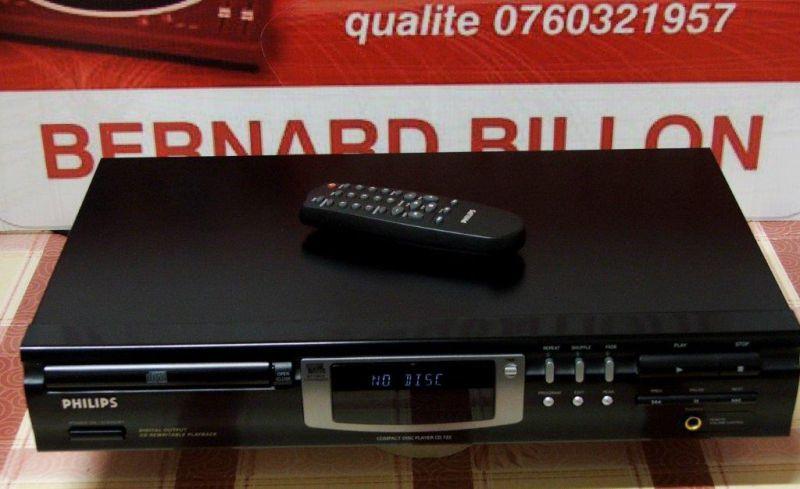 lecteur de cd philips cd 723 telecommande bernard billon. Black Bedroom Furniture Sets. Home Design Ideas