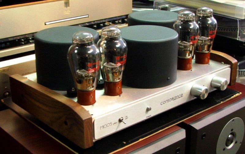 ampli a tubes 300b consonance m100s plus walnut bernard. Black Bedroom Furniture Sets. Home Design Ideas